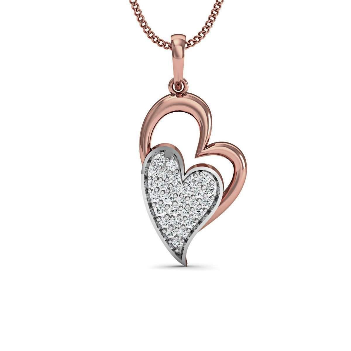 Diamoire Jewels 18kt Rose Gold Diamond Pave Pendant ccCc10rt