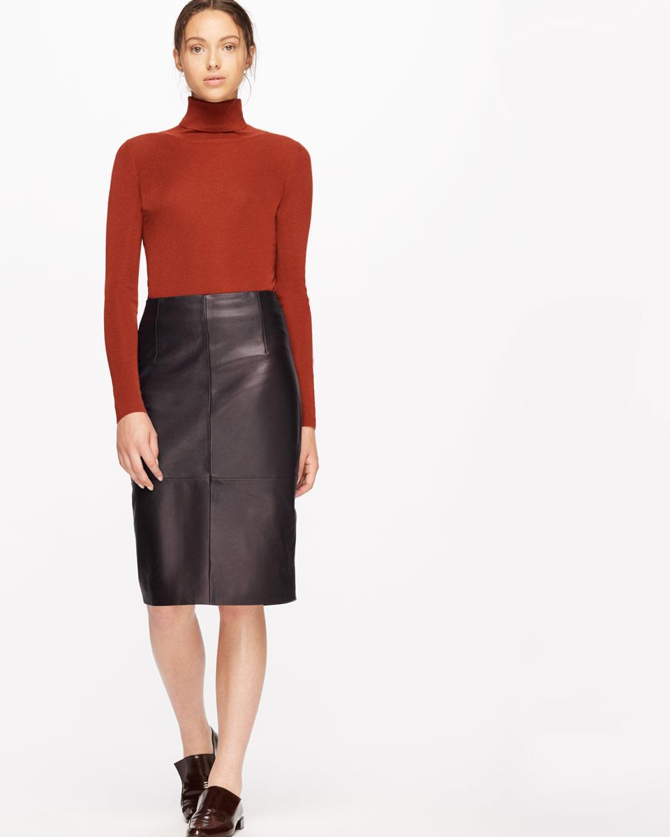 849826c72a Jigsaw Leather High Waisted Pencil Skirt - Lyst