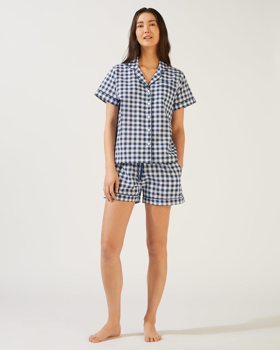 cedc43a67e6f4 Jigsaw - Blue Sofia Gingham Short Pyjama - Lyst. View fullscreen