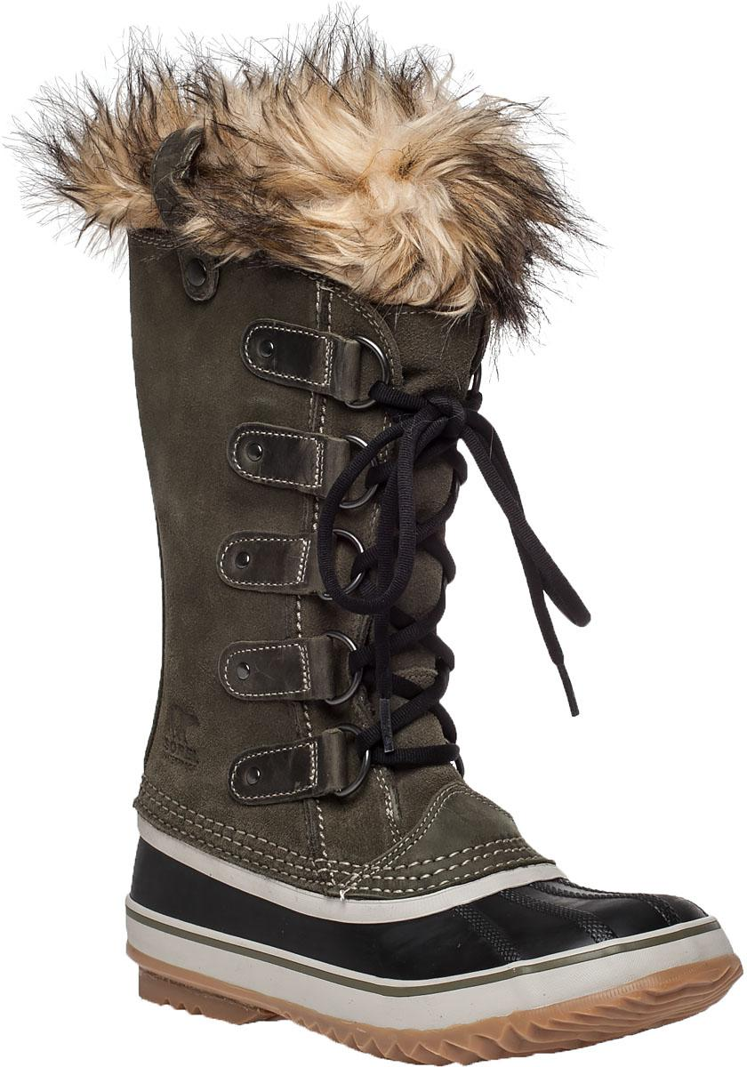 lyst sorel joan of arctic suede and rubber boots in. Black Bedroom Furniture Sets. Home Design Ideas