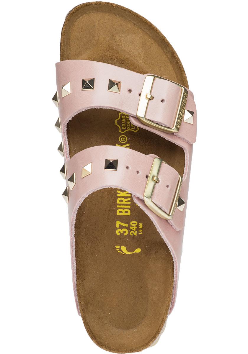 Lyst Birkenstock Arizona Studded Leather Sandals In Pink