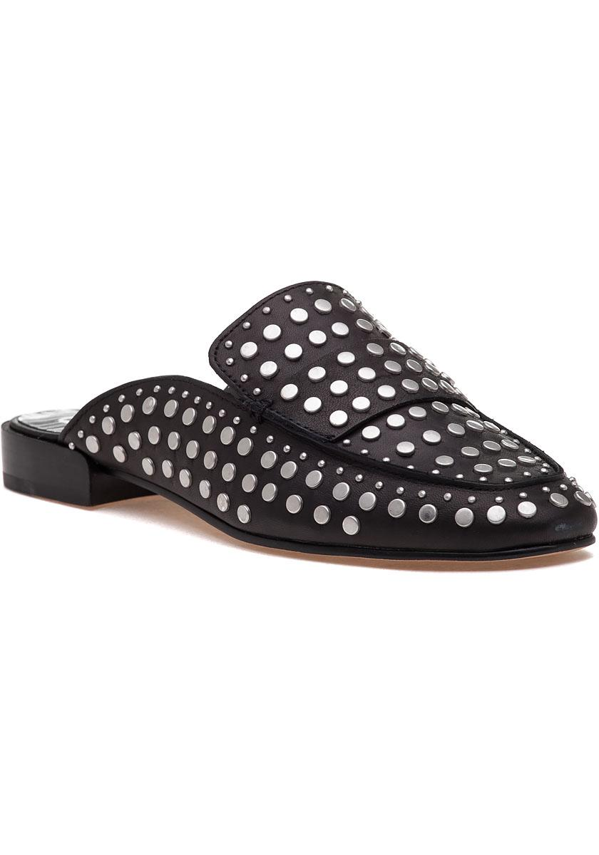 Lyst Dolce Vita Maura Black Studded Leather Mule In Black