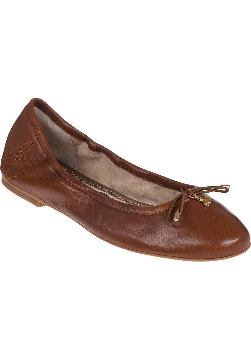 223939586bd11f Lyst - Sam Edelman Felicia Flat Saddle Leather in Brown