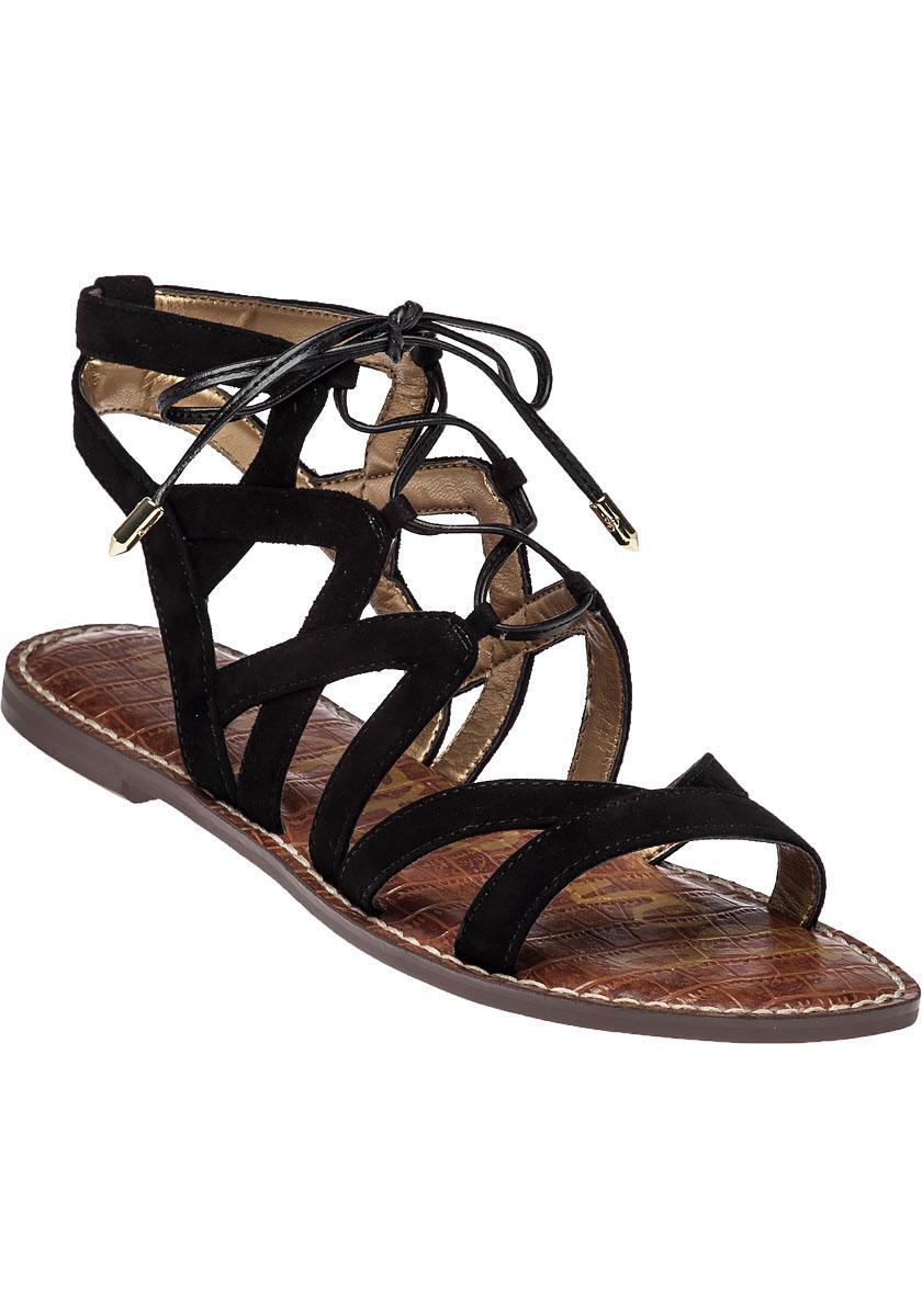 b96ff9292c7 Lyst - Sam Edelman Gemma Suede Gladiator Sandals in Black