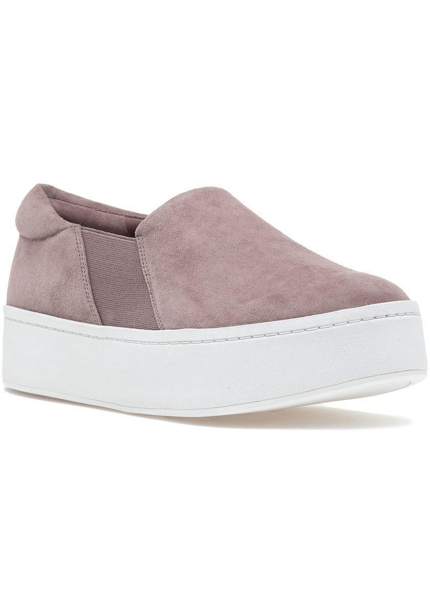 71d95fc7d8a8 Lyst - Vince Warren Sneaker Hydrangea Suede in Pink
