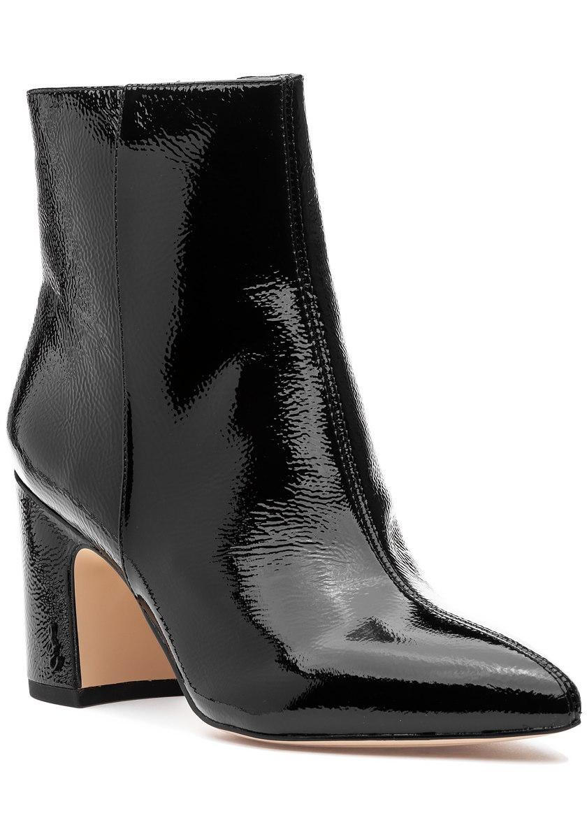 979027e27c85 Lyst - Sam Edelman Hilty Boot Black Crinkle Patent in Black