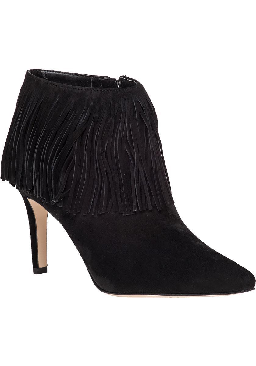 f0fb2ff2ea9323 Lyst - Sam Edelman Kandice Fringed Ankle Boots in Black