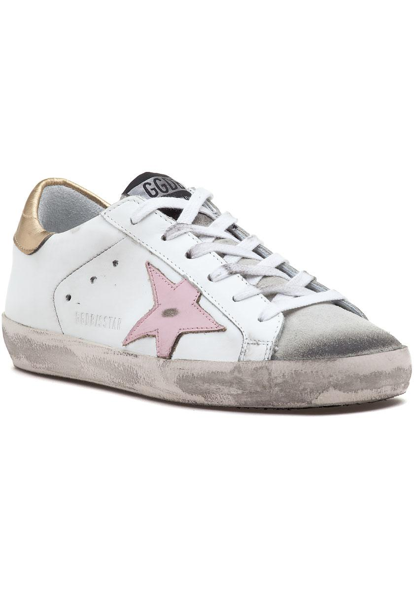 73ff8d07f30 Golden Goose Deluxe Brand. Women s Superstar Lace Up Sneaker White gold pink