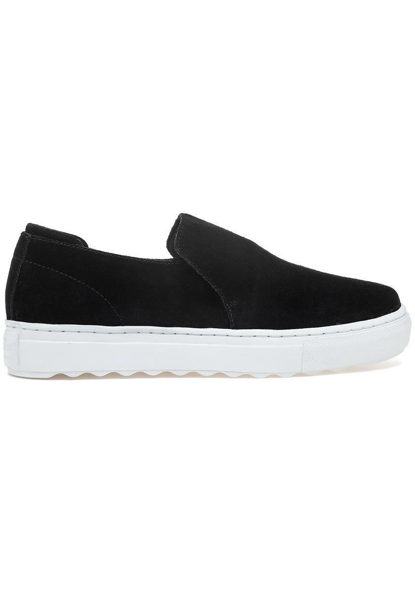 681c4687bc4a Lyst - J Slides Perrie Slip On Sneaker Black Suede in Black