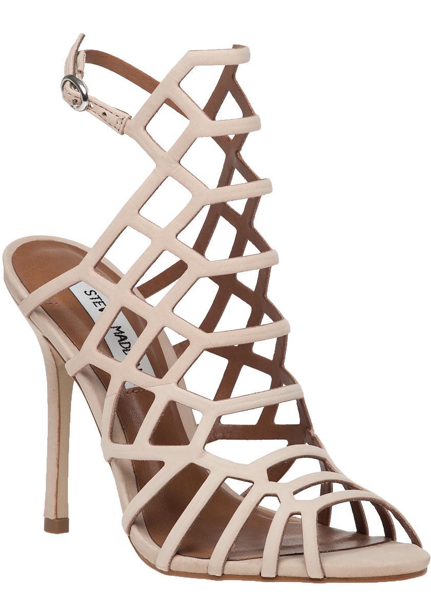 80d7d4a8557 Lyst - Steve Madden Slithur Suede Sandals in Pink