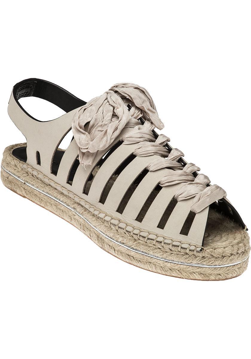 8afdf91dbece Lyst - Rebecca Minkoff Gemma Nubuck Espadrille Sandals in Natural