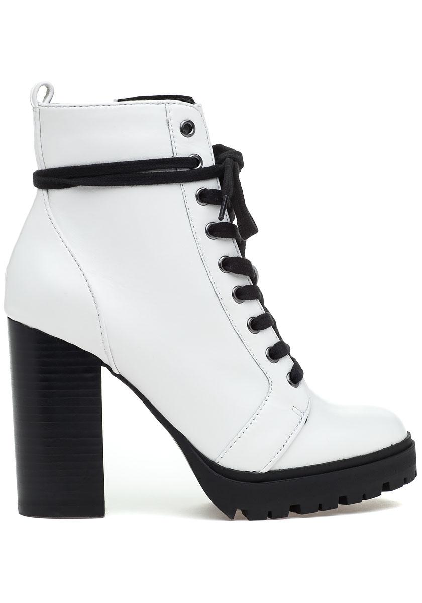 b7385433fde Lyst - Steve Madden Laurie Boot White Leather in White
