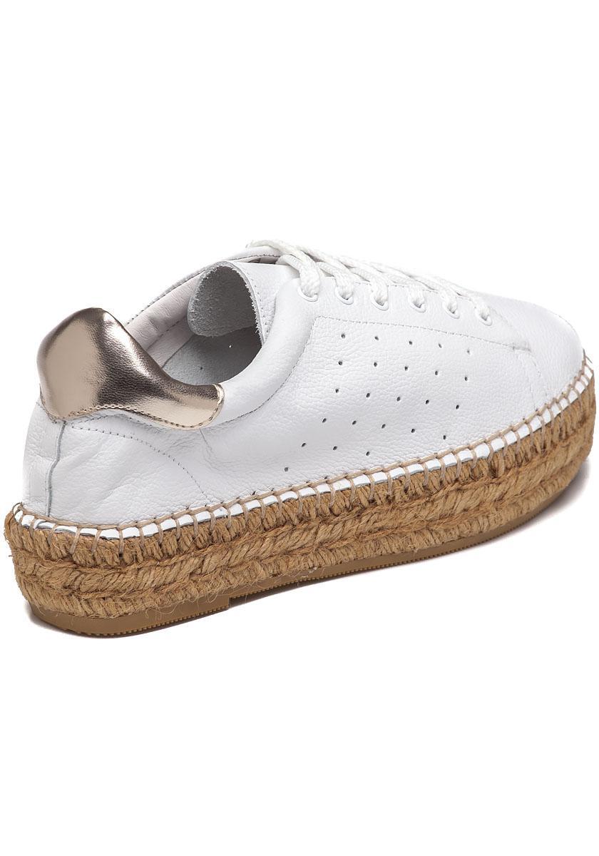 7bd91dae47b Lyst - Steven by Steve Madden Pace White gold Espadrille Sneaker in ...