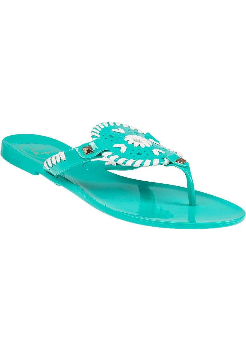 8a23851d193d Lyst - Jack Rogers Georgica Jelly Flip Flop Caribbean Blue white in Blue