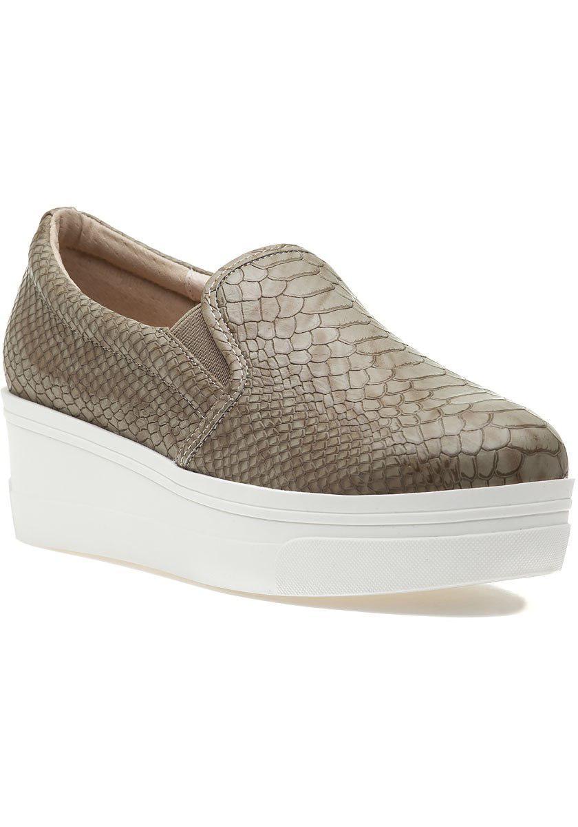 47f226d8b2d4 Lyst - J Slides Genna Platform Sneaker Taupe Lux