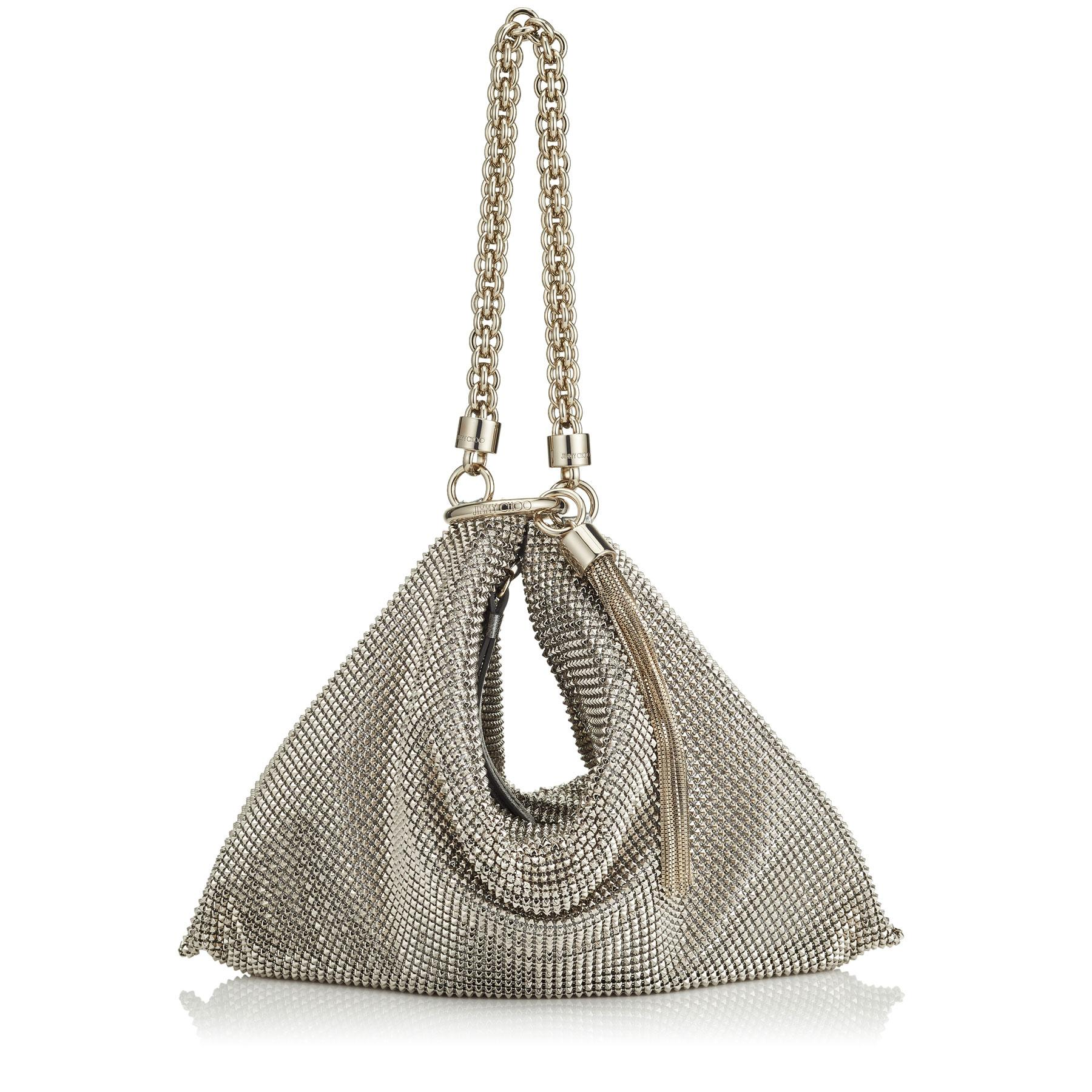 choose original sneakers discount coupon Women's Metallic Callie Silver Chain Mail Mesh Clutch Bag With Chain Strap