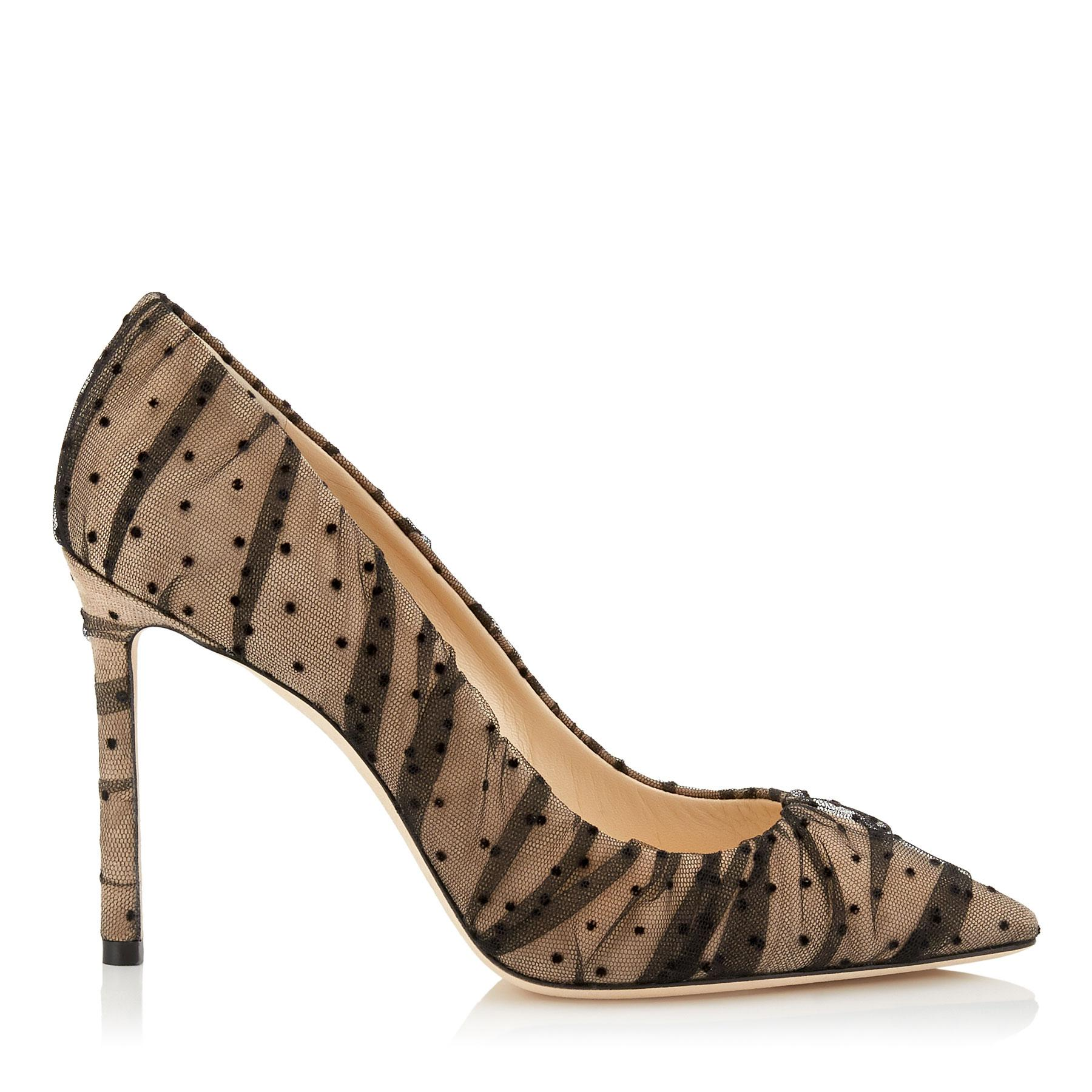afc5c24166 Jimmy Choo Romy 100 Nude Suede Pointy Toe Pumps With in Black - Save ...