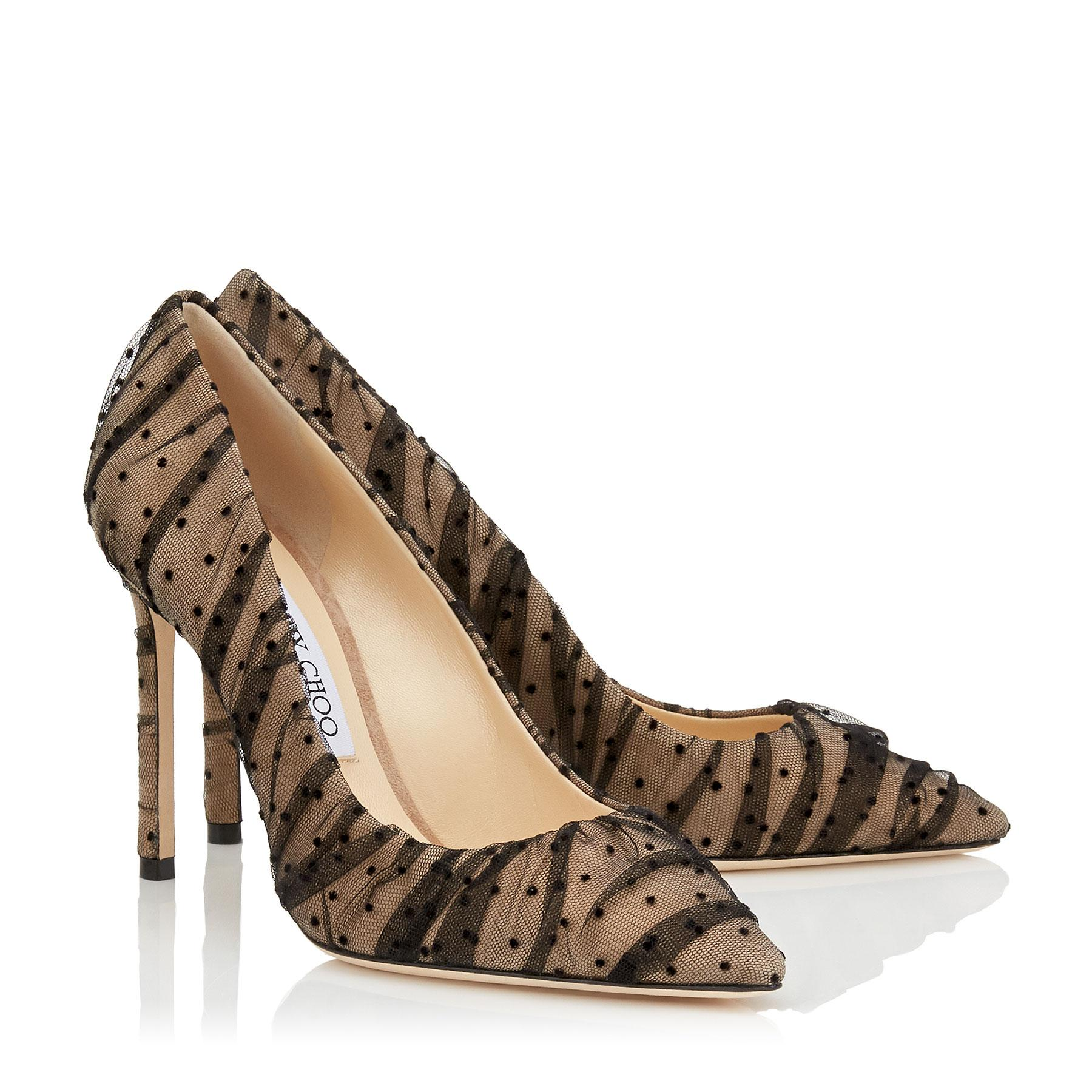 076c22f4d875 Jimmy Choo - Black Romy 100 Nude Suede Pointy Toe Pumps With - Lyst. View  fullscreen