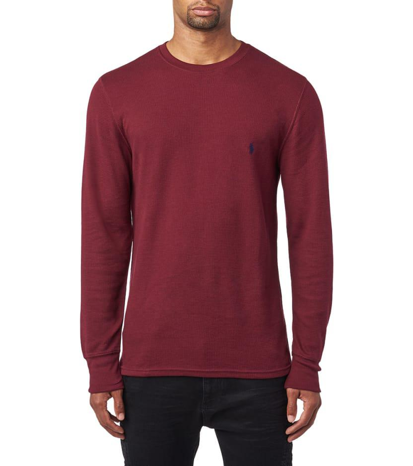 5d8d99e16 Polo Ralph Lauren Long Sleeve Crew Thermal in Red for Men - Lyst