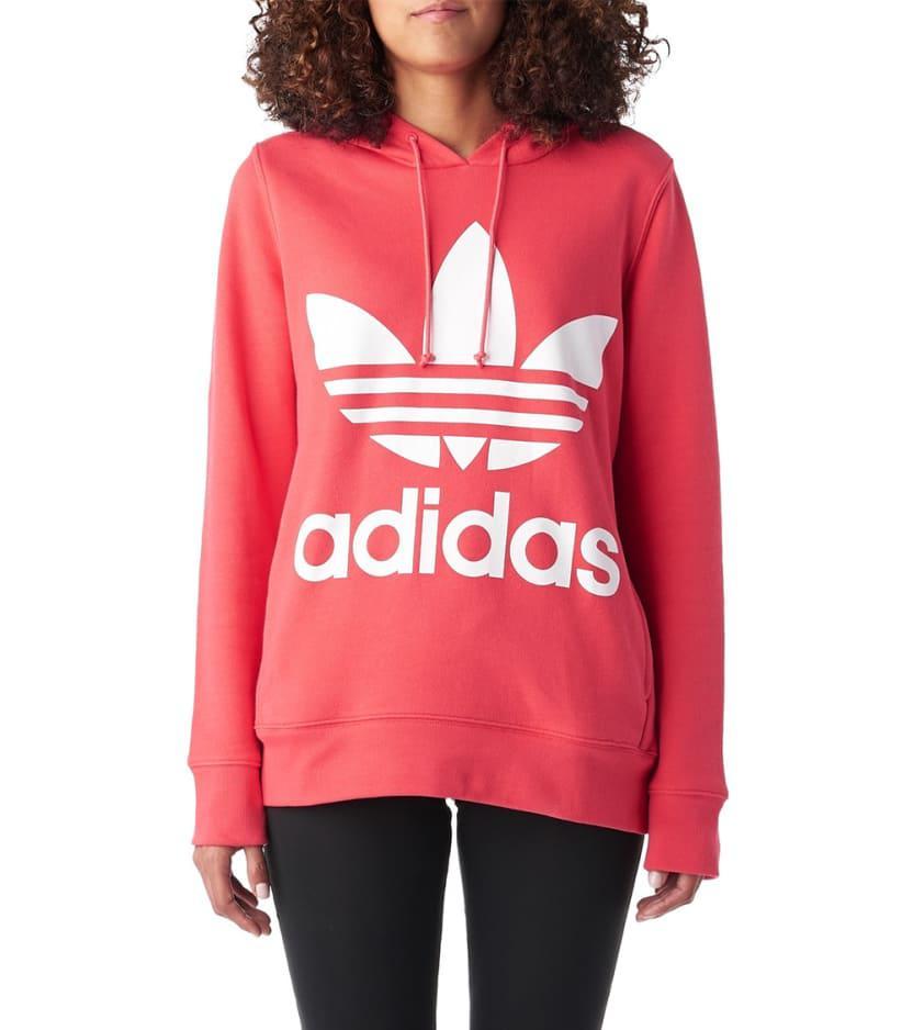 e3d874ff838d adidas Originals Trefoil Hoodie in Pink - Lyst