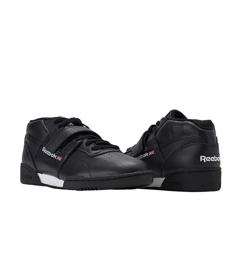 945047b80b6 Lyst - Reebok Workout Clean Mid Strap Mu in Black for Men
