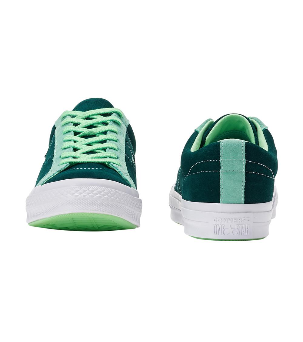 a52222fd02dc86 Lyst - Converse One Star Carnival Suede Low Top in Green for Men