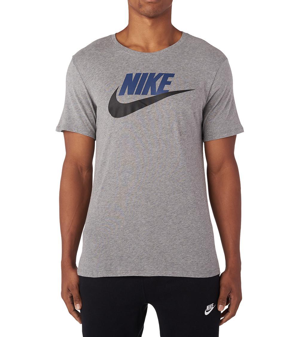 Nike Men/'s Sportswear Embroidered Swoosh T-Shirt Black//White 827021-011
