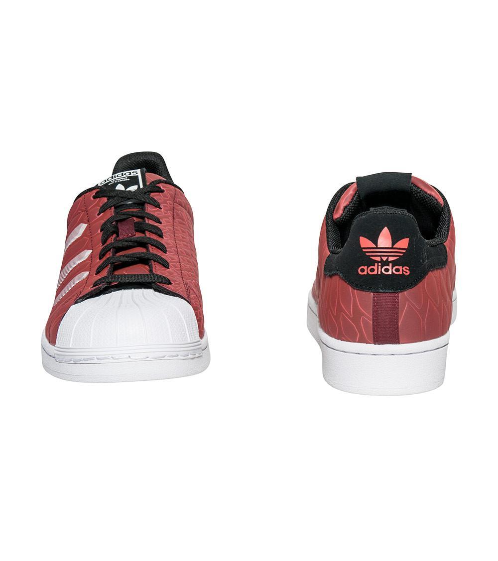 best sneakers a6423 780a7 Adidas - Red Superstar Ctxm Chromatech Sneaker for Men - Lyst. View  fullscreen