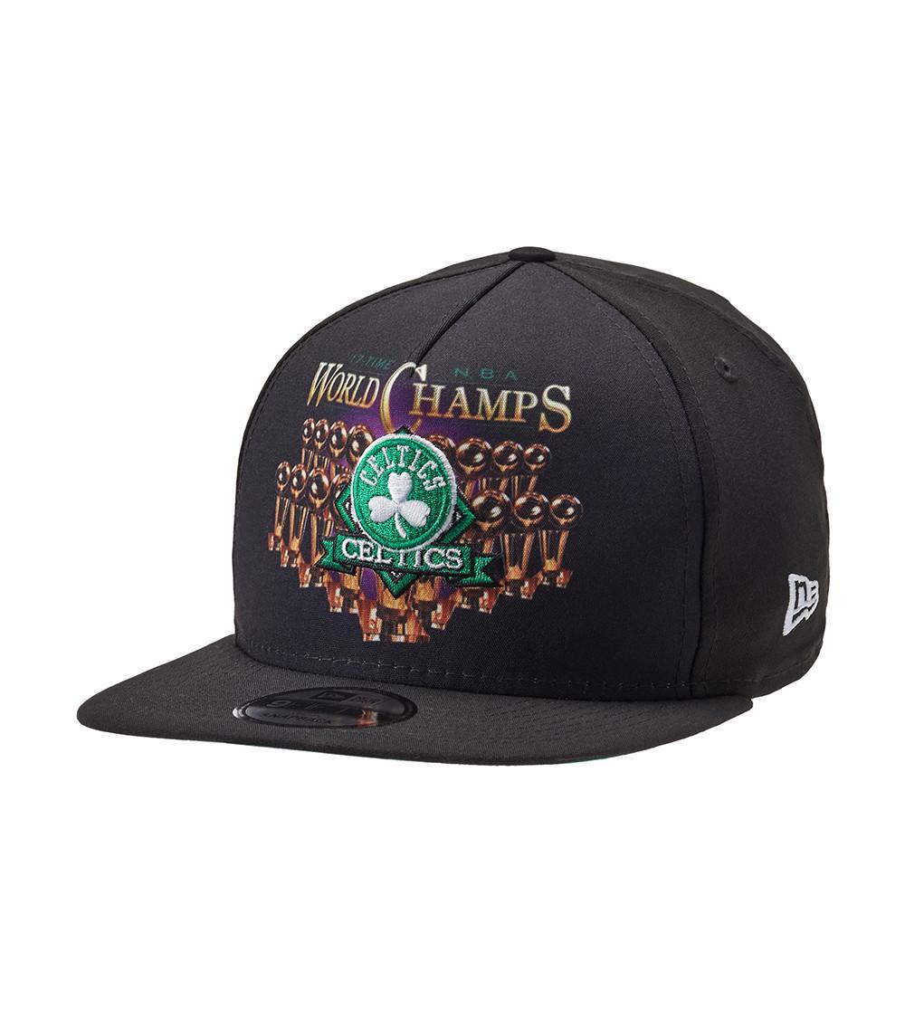 fefe5071e83 Lyst - Ktz Vintage Bling 9fifty Celtics Snapback in Black for Men
