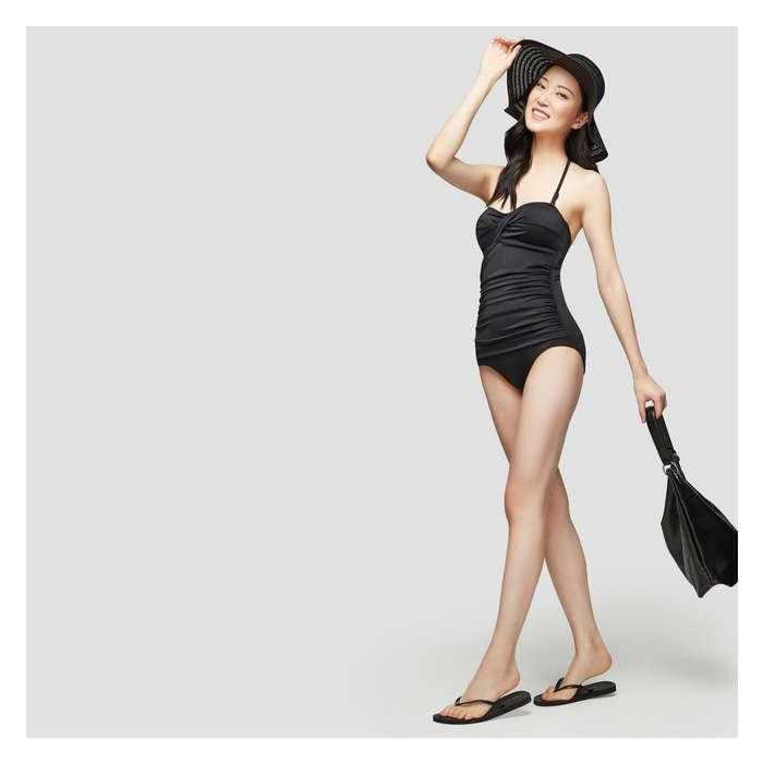 ad21a1bb6d09 Joe Fresh - Black Twist Front Swimsuit - Lyst. View fullscreen