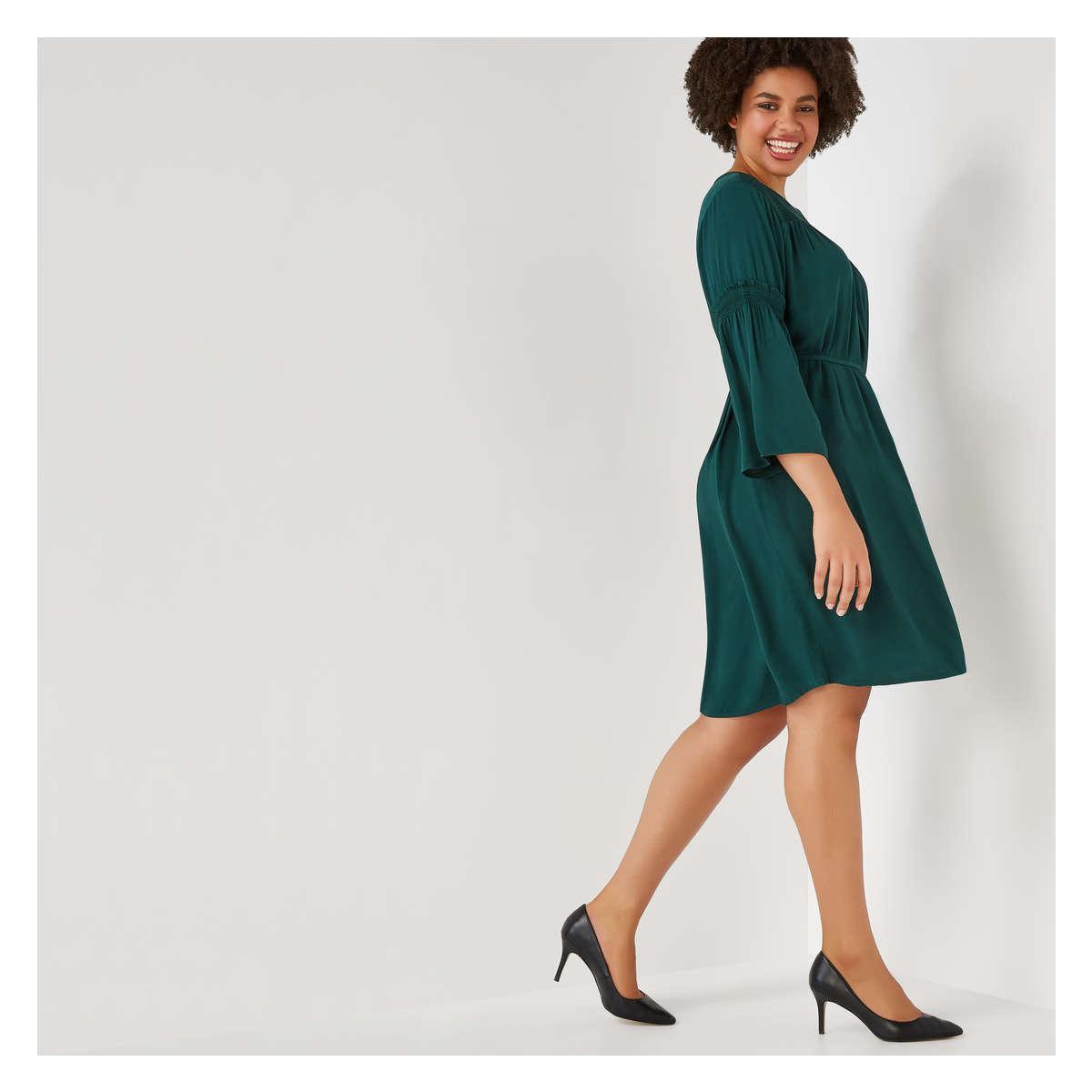 326b6639c74eb1 Joe Fresh - Green Women+ Smocked Dress - Lyst. View fullscreen