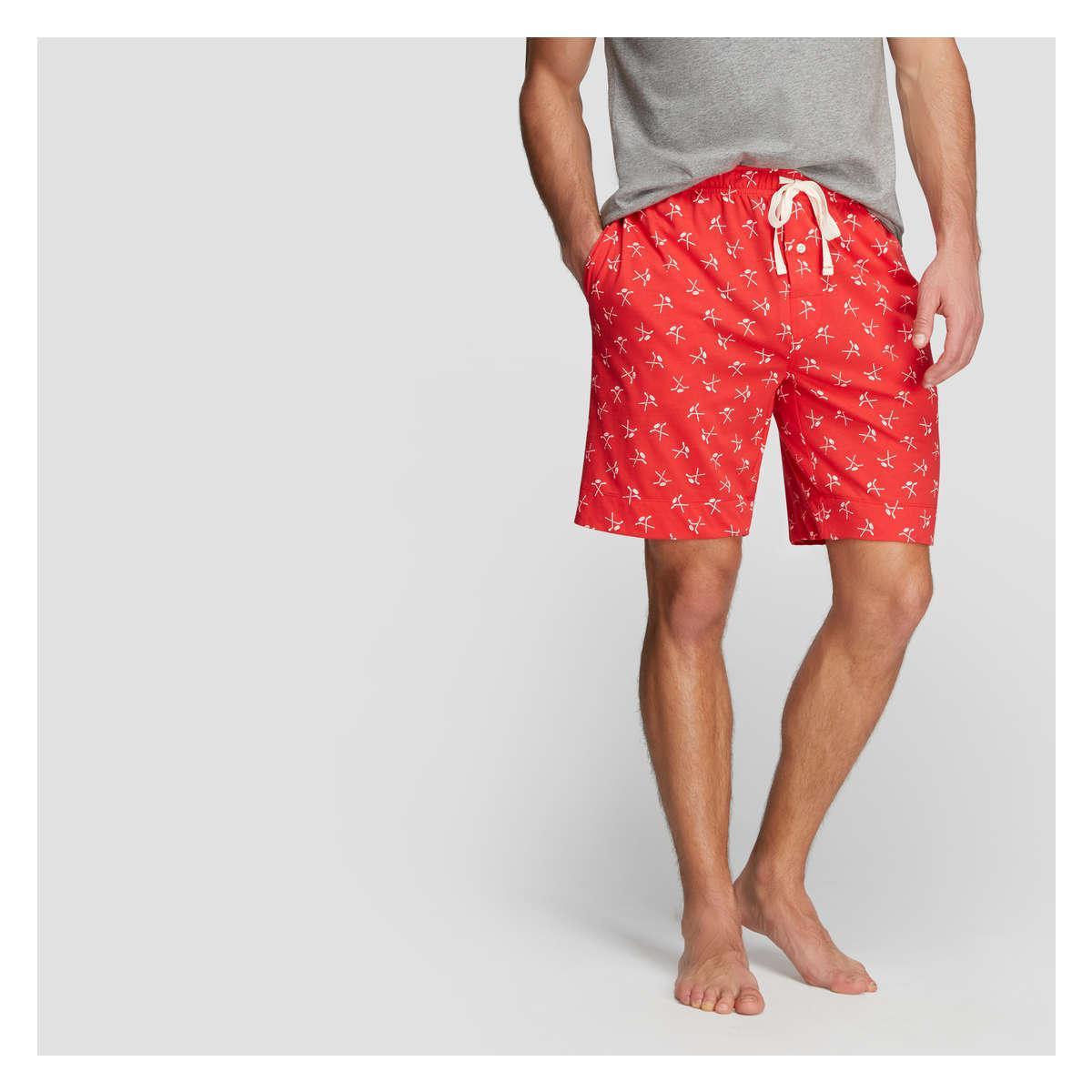 29a3903d1e6 Joe Fresh Men's Knit Sleep Short in Red for Men - Lyst