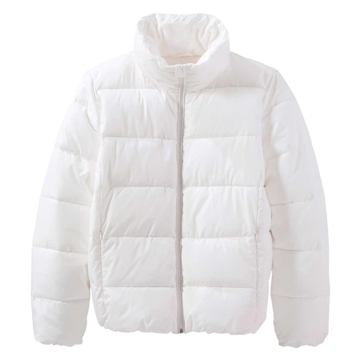 Joe Fresh Funnel Neck Puffer Jacket In White Lyst
