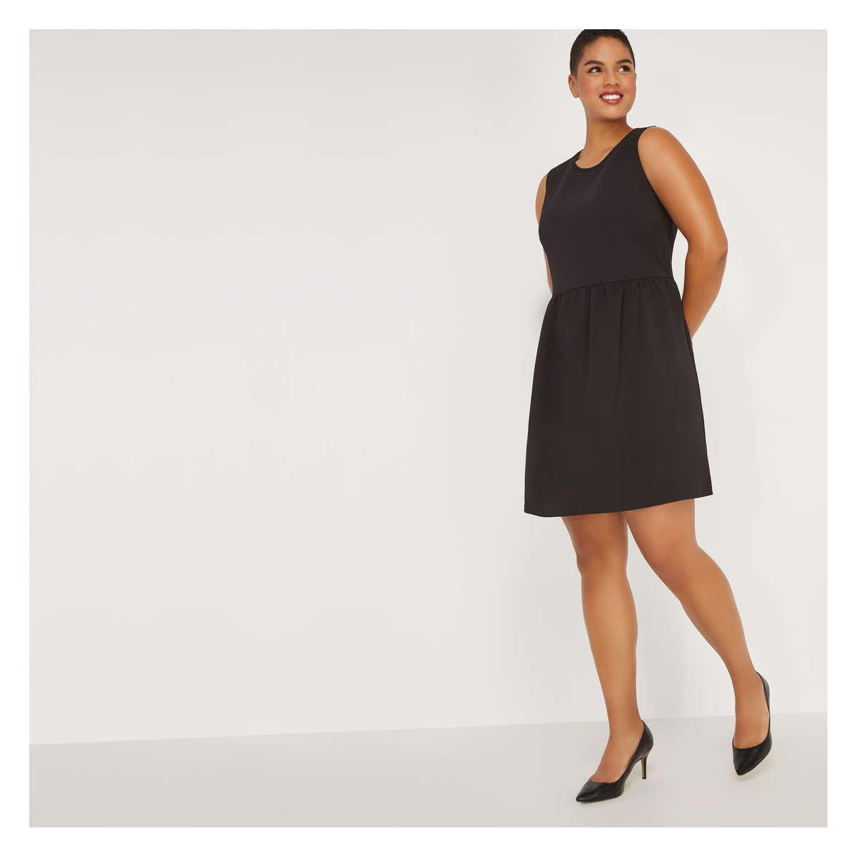 Lyst - Joe Fresh Women+ Sleeveless Pebble Dress in Black fcadbe0a8