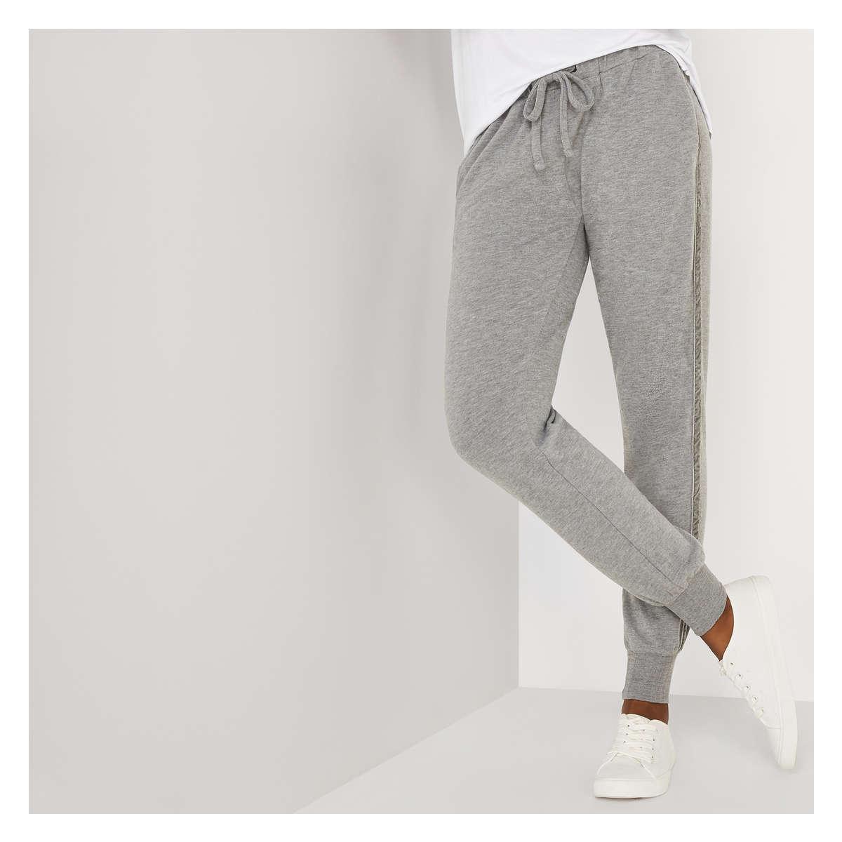 c71827f5d9b028 Lyst - Joe Fresh Velvet Stripe Jogger in Gray