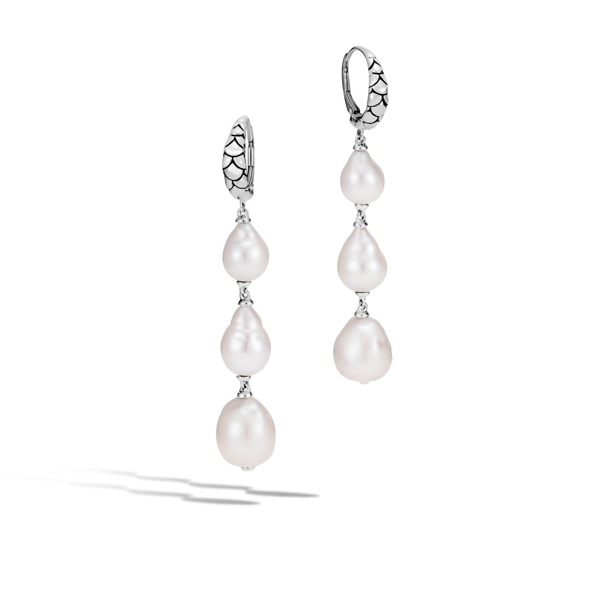 John Hardy Naga Drop Earring With Pearl White fresh water pearl 3tD20