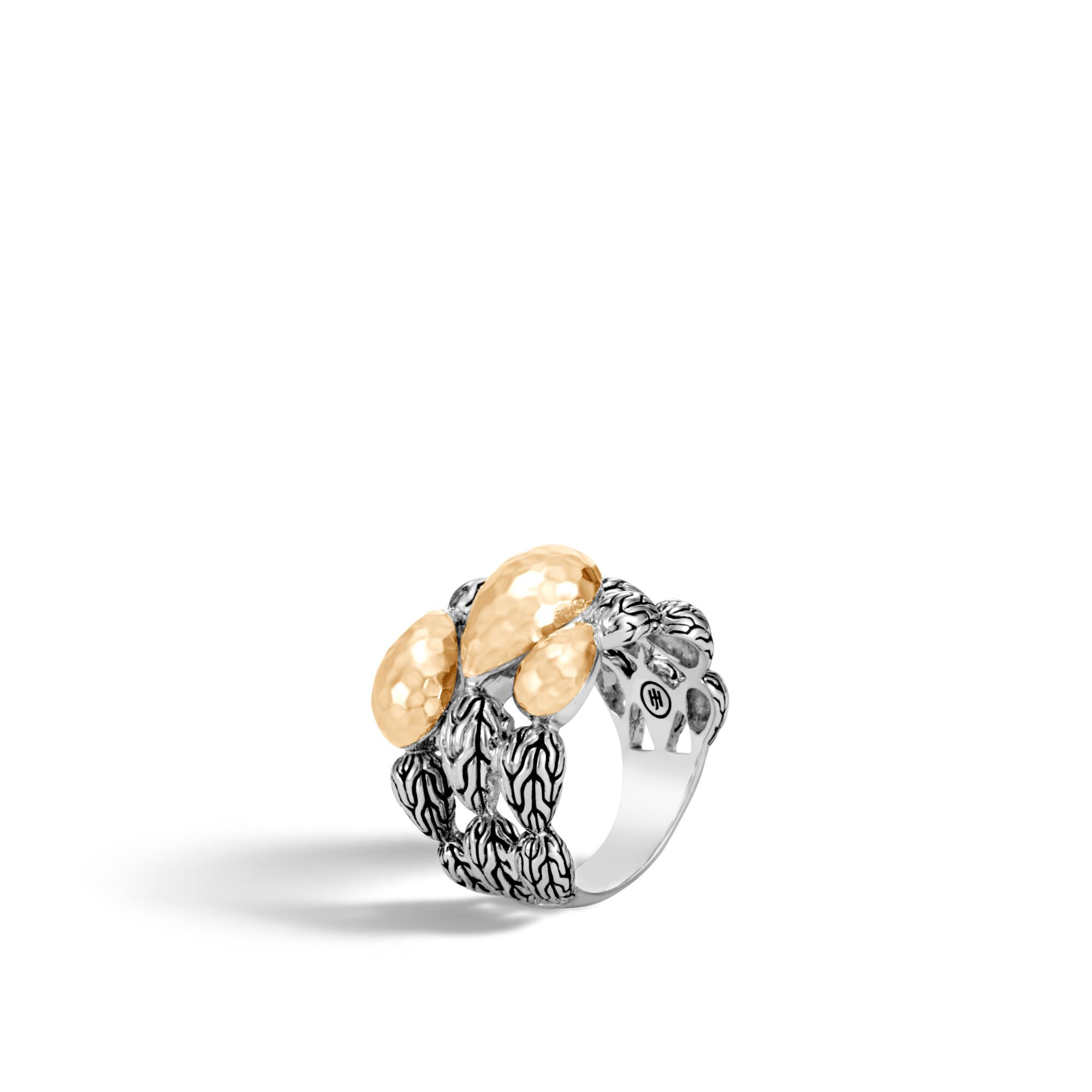 John Hardy Classic Chain Hammered Ring With Diamonds ipEi1Y