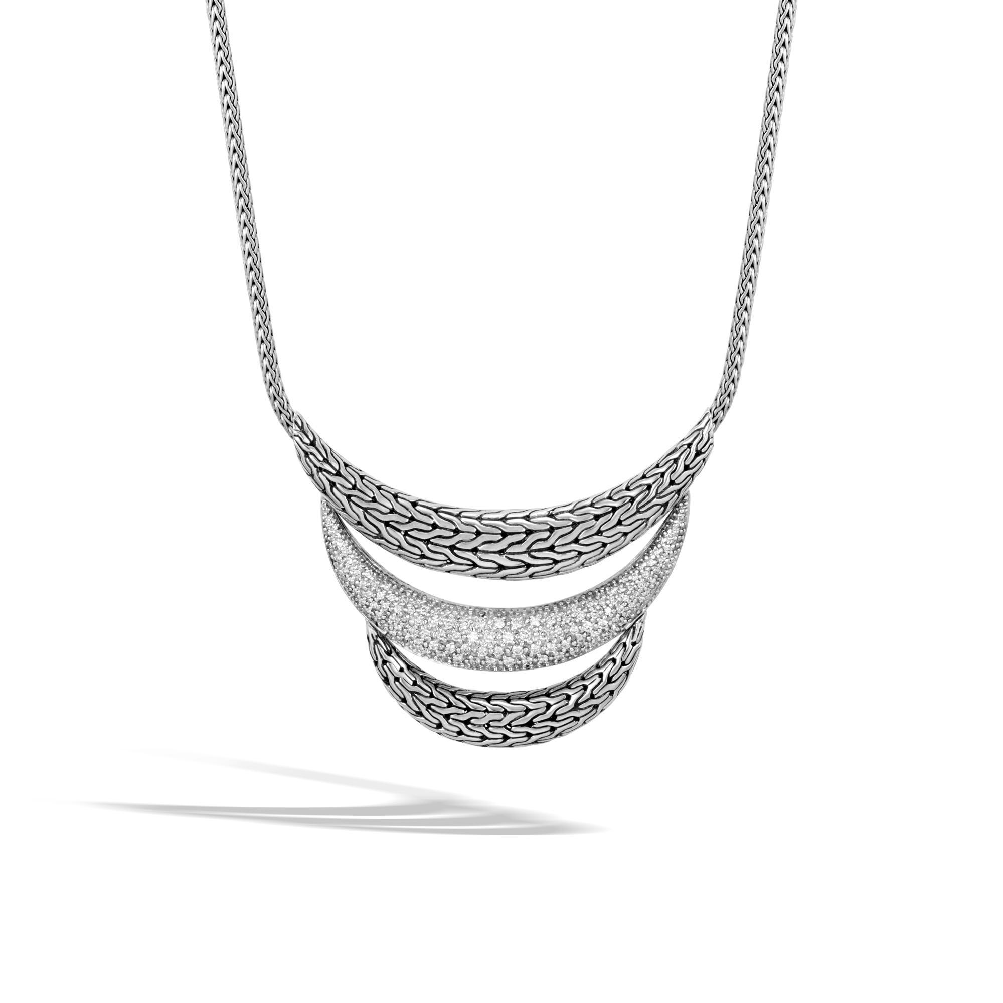 John Hardy Classic Chain Enhancer With Diamonds White diamond 8C6und