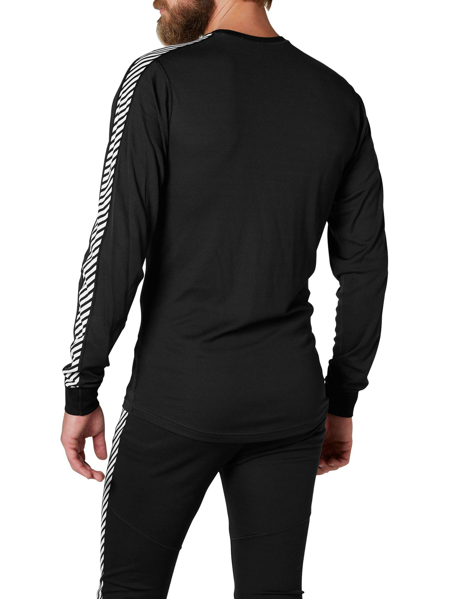 3e77ab00dea Helly Hansen Lifa Stripe Base Layer Crew Top in Black for Men - Save 50% -  Lyst