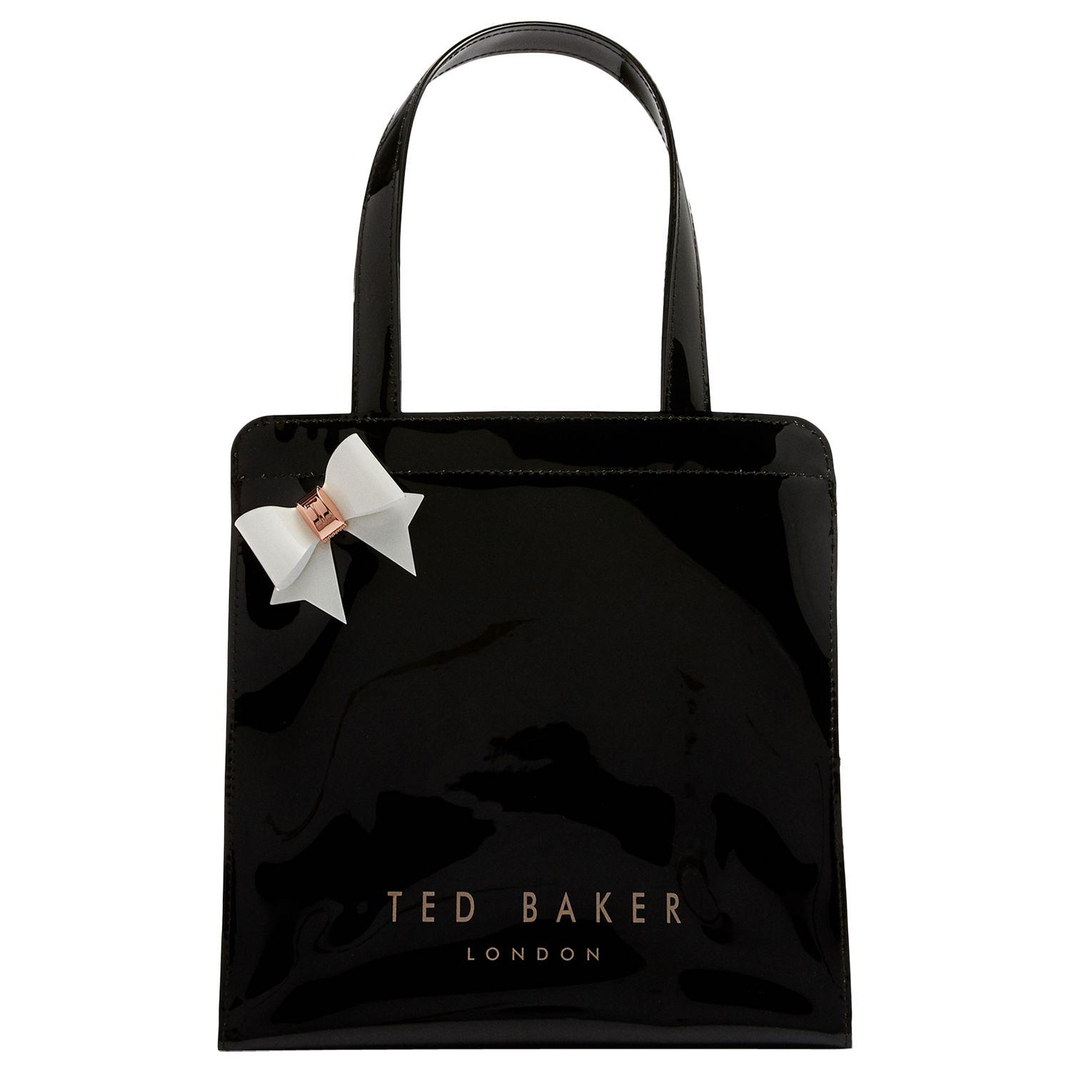 d37169bde8a7b Ted Baker Cleocon Bow Small Icon Shopper Bag in Black - Lyst