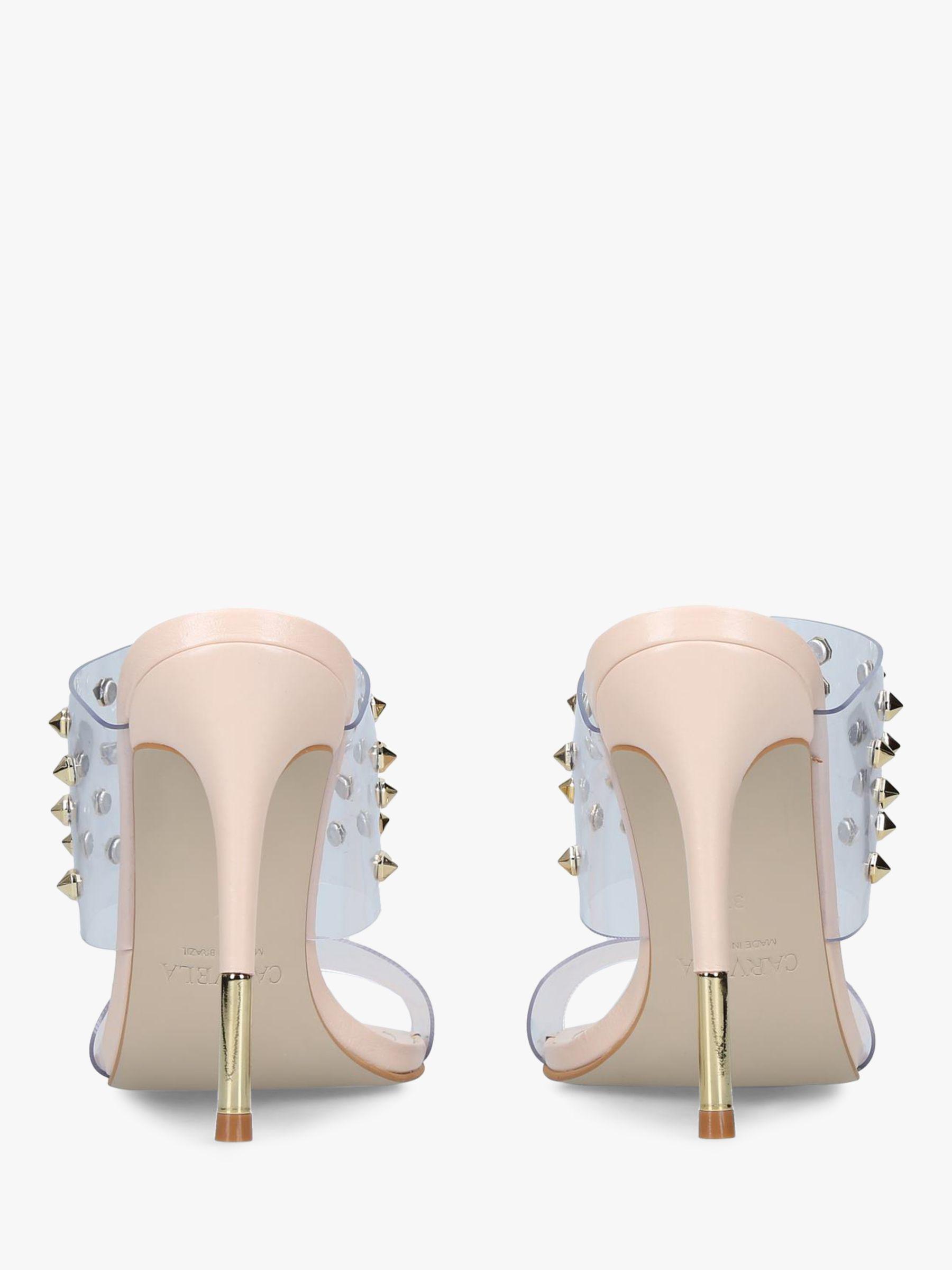 9ed3de9d1 Carvela Kurt Geiger Ghost Studded Stiletto Heel Sandals in Natural ...
