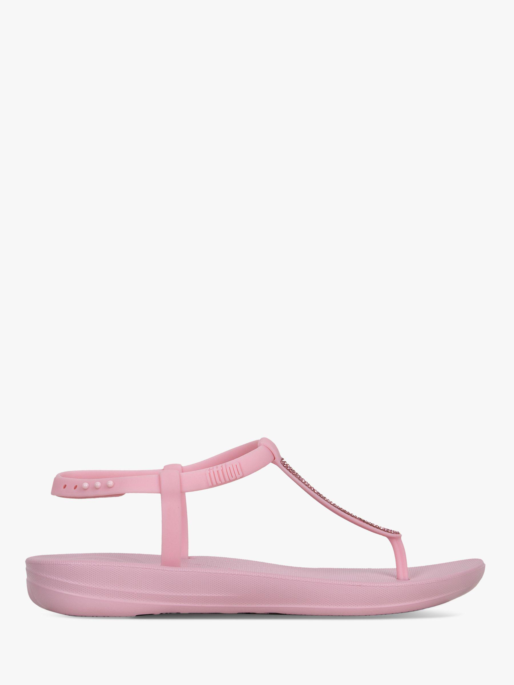 deee9ea6fb6 Fitflop Iqushion Splash Pearlised Sandals in Pink - Lyst