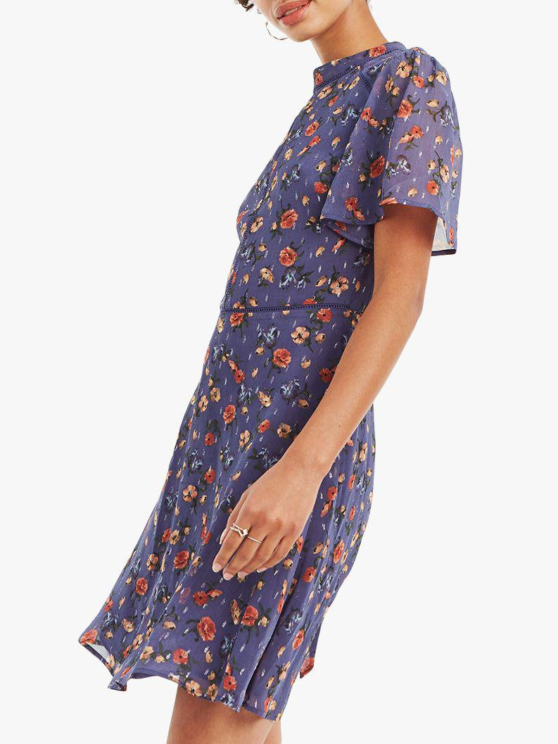 d427ae77a7f4 Oasis. Women's Blue Sparkle Floral Skater Dress. £55 £22 From John Lewis  and Partners