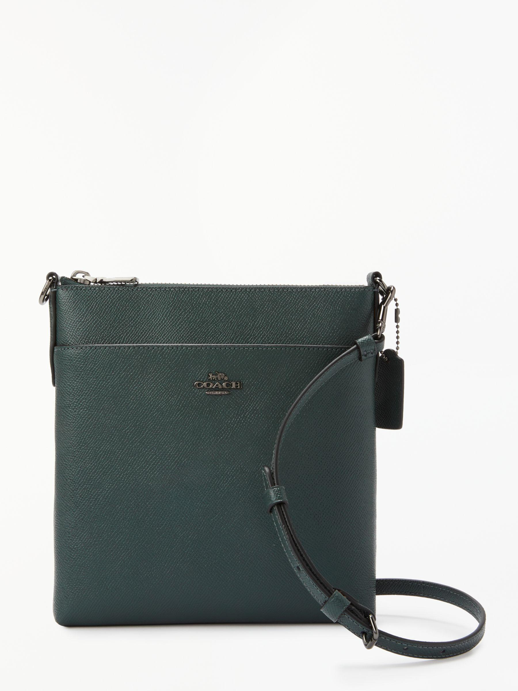 2ebabe2927f1 COACH Messenger Leather Cross Body Bag in Green - Lyst