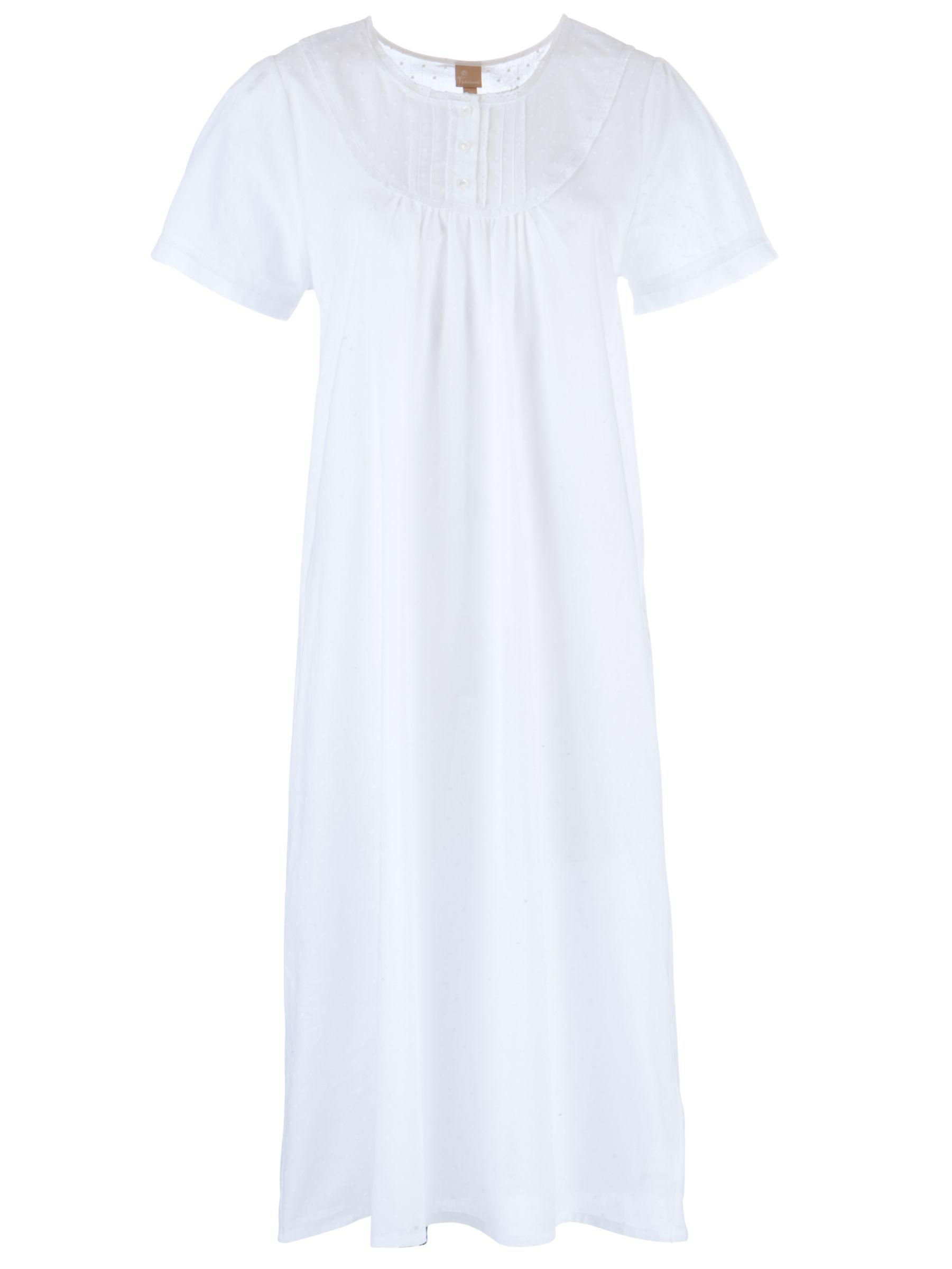 9b27f42ee8 John Lewis Pilli Cotton Nightdress in White - Lyst