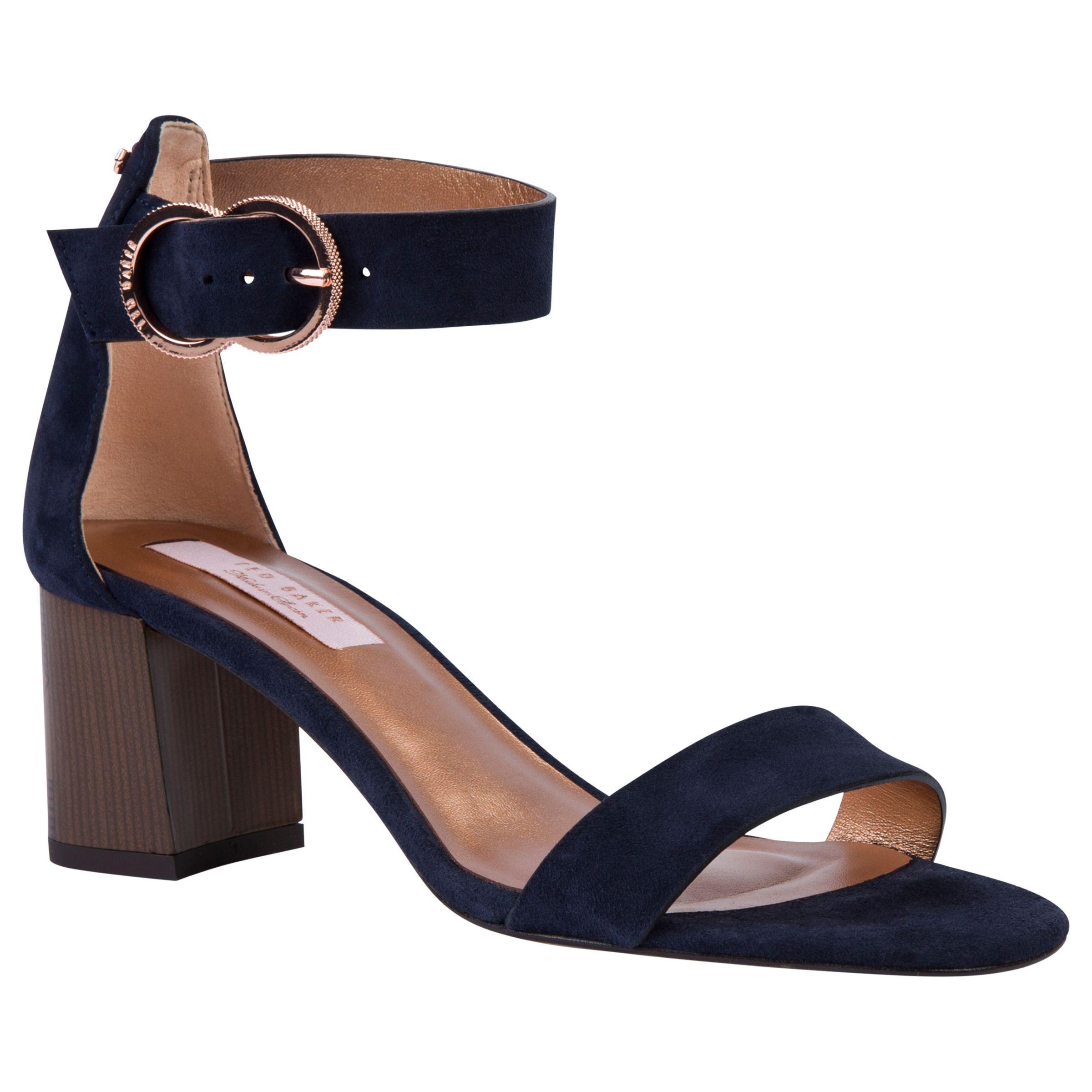 32b3c0dd13426a Ted Baker Qarvas Block Heel Sandals in Blue - Lyst