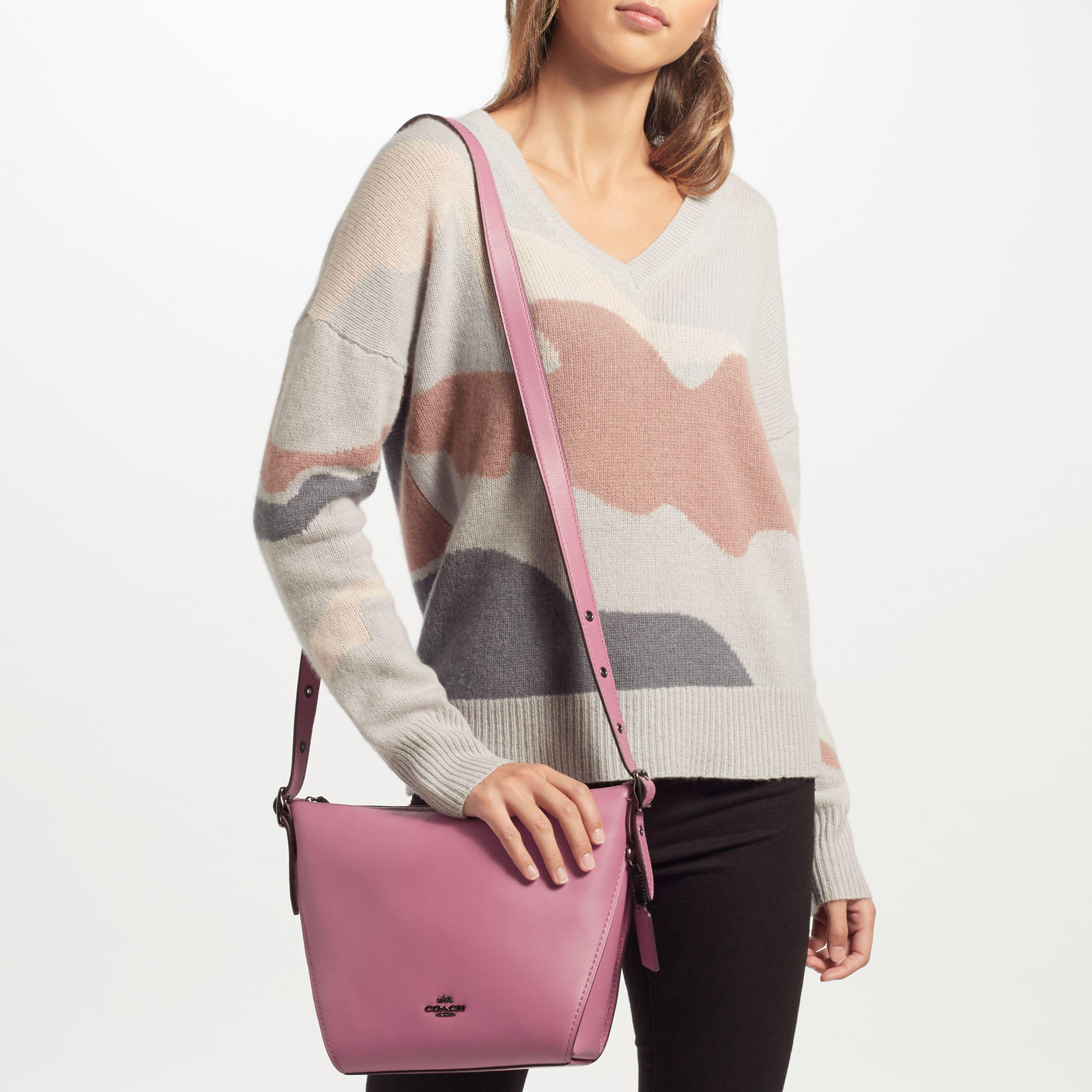 5385f205fb6f ... shopping coach dufflette leather shoulder bag lyst 971e0 0775d
