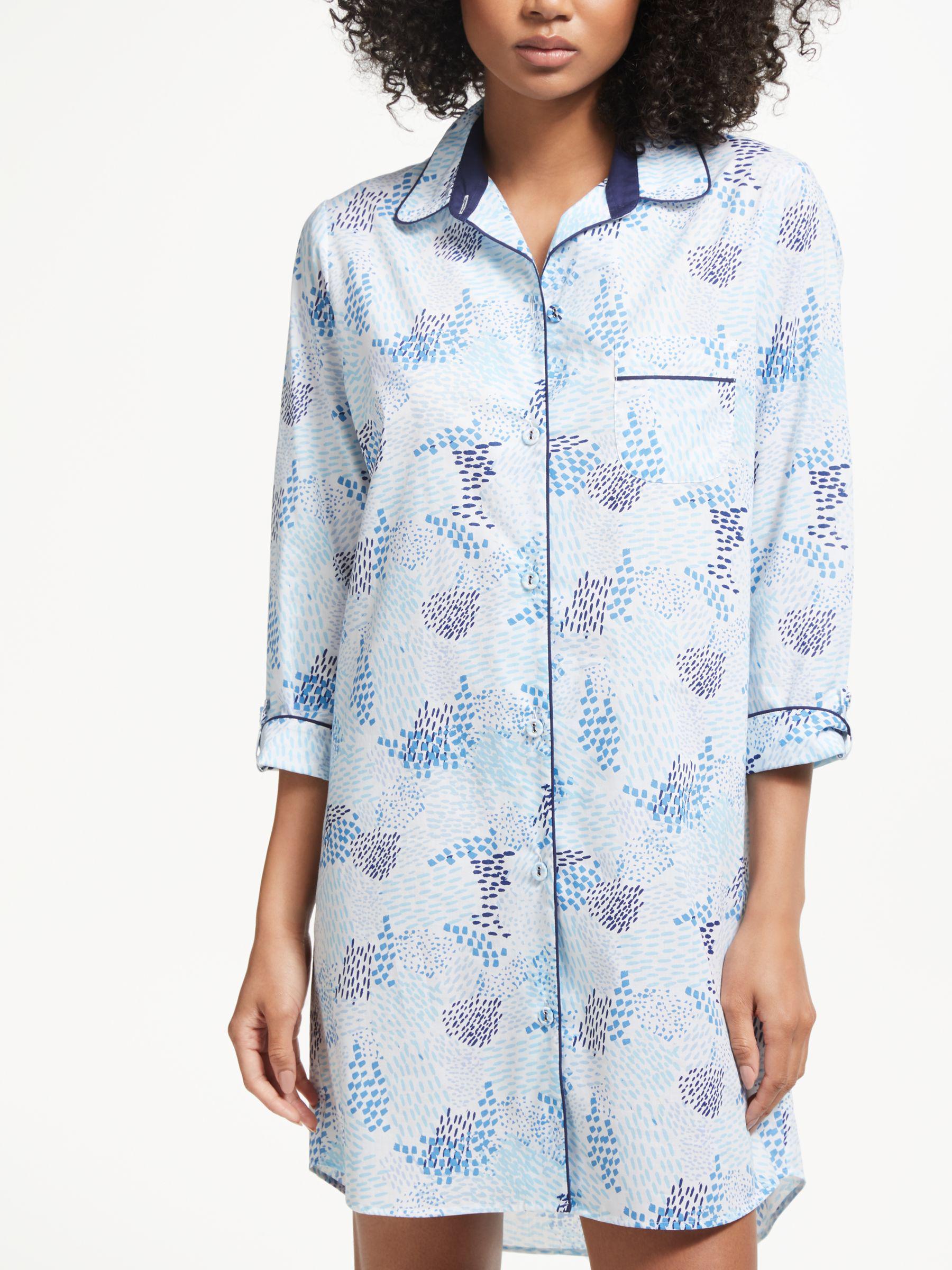 1bf9cbe755 John Lewis Shola Cotton Nightshirt in Blue - Lyst