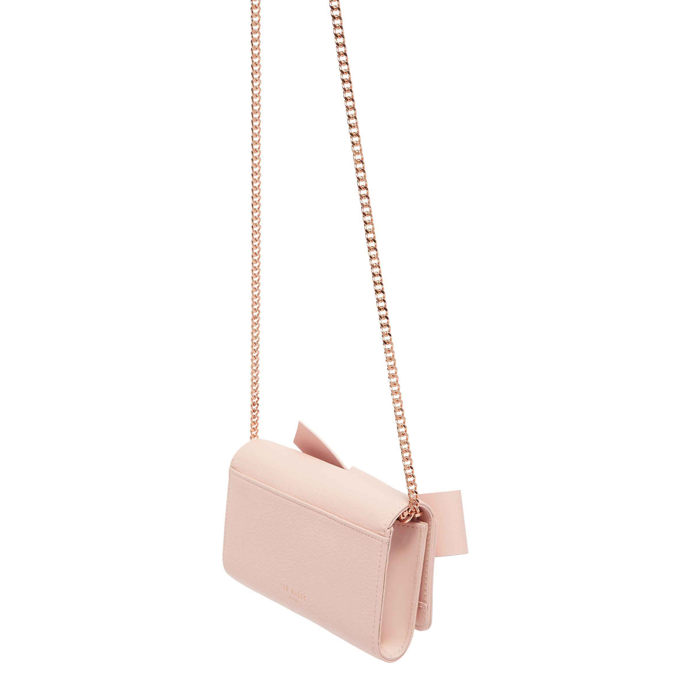 31e56e24da707c Ted baker lyle giant knot bow leather evening bag in pink lyst jpg  2400x2400 Lyle baker