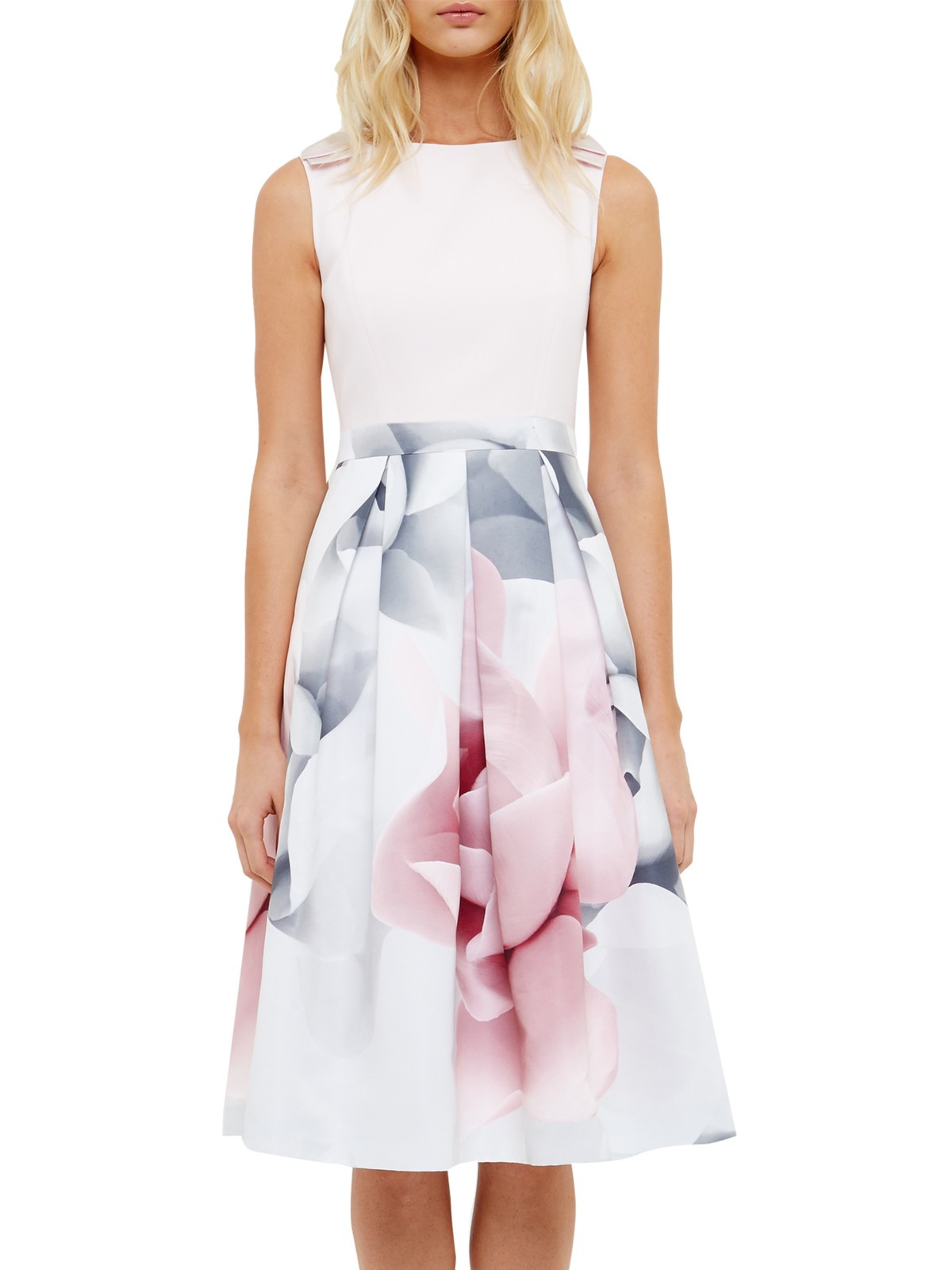 Ted Baker Riina Porcelain Rose Bow Dress In Pink Lyst Wanita Farra Gallery